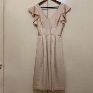 Cremieux Beige Flutter Dress 6